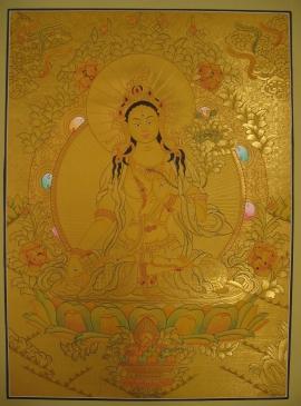 Shayama Tara Tibetan Thangka