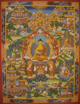 Life of Buddha Thangka Painting