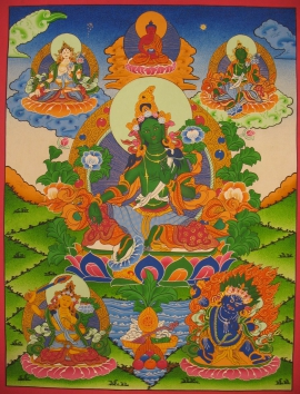 Traditional Green Tara Thangka