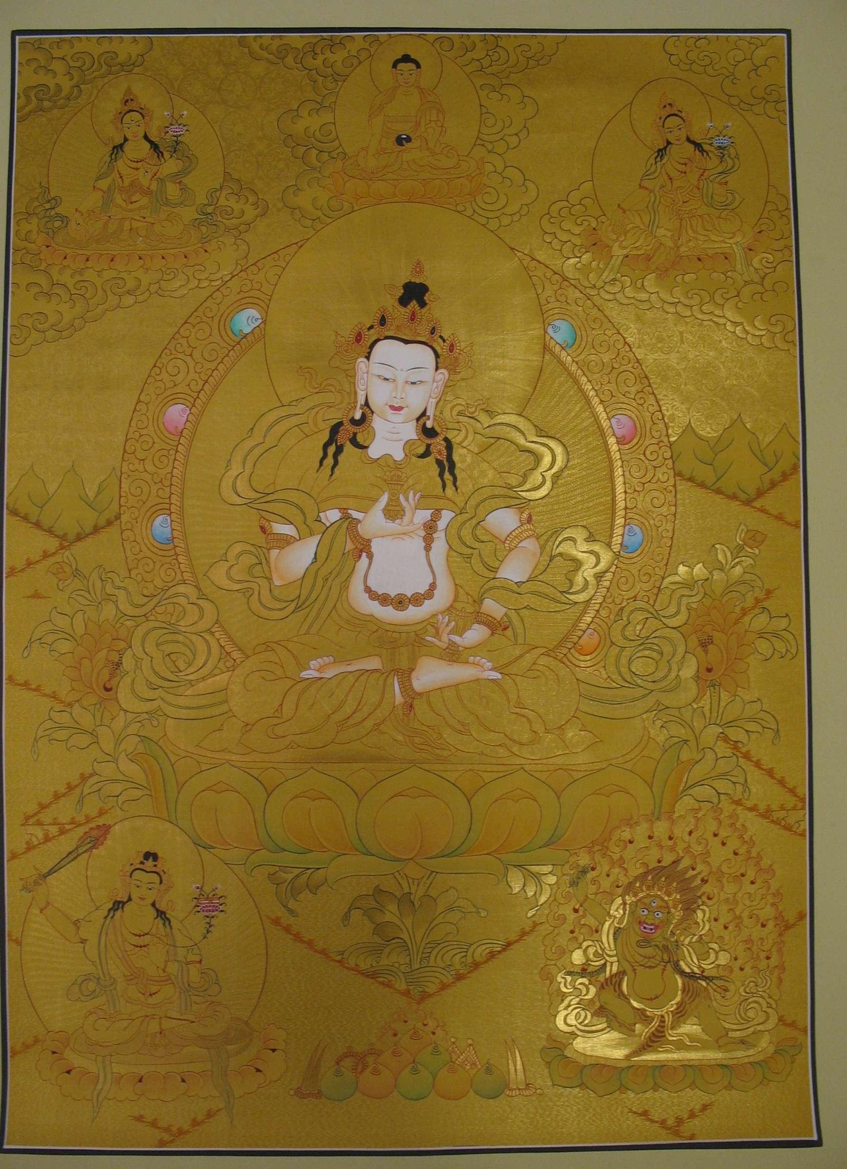 Vajrasattva with Manjushree Thangka