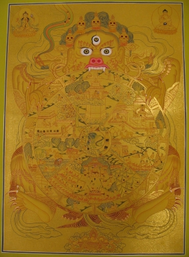 Golden Wheel of Samsara Thangka
