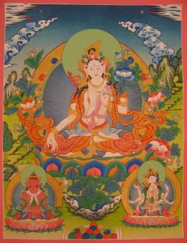 White Tara Ritual Thangka
