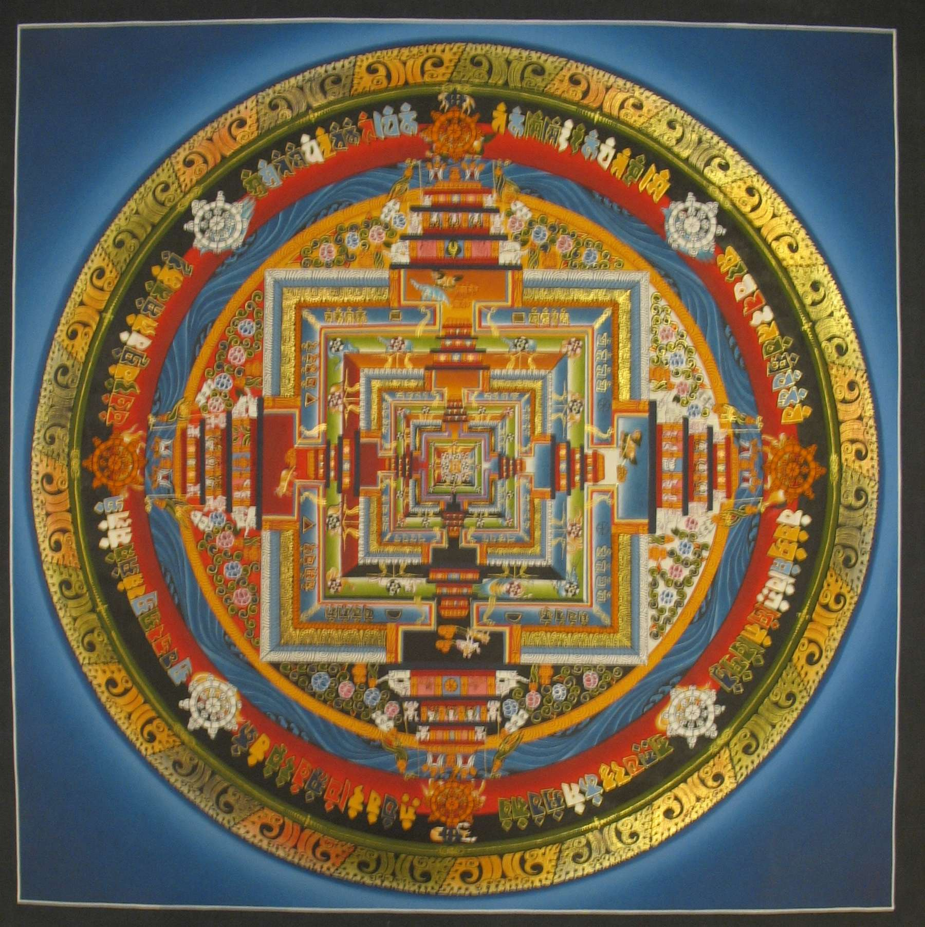 Traditional Art of Kalachakra Mandala