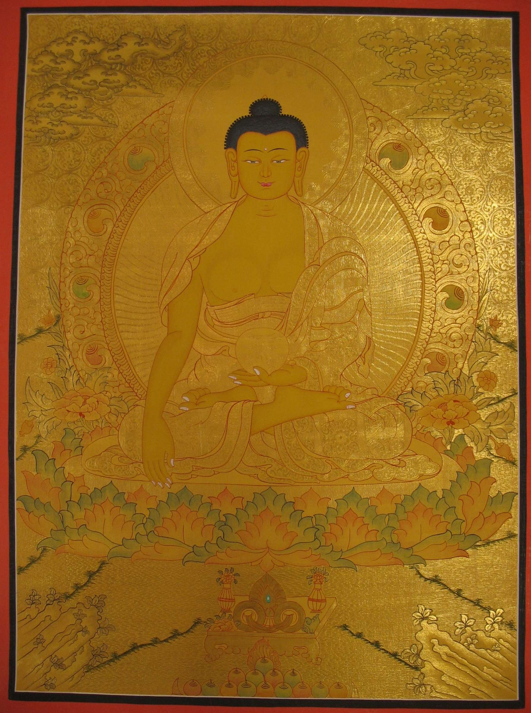 Thangka of Shakyamuni Buddha