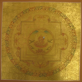 Golden Green Tara Ritual Mandala