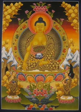 Traditional Thangka of Shakyamuni Buddha
