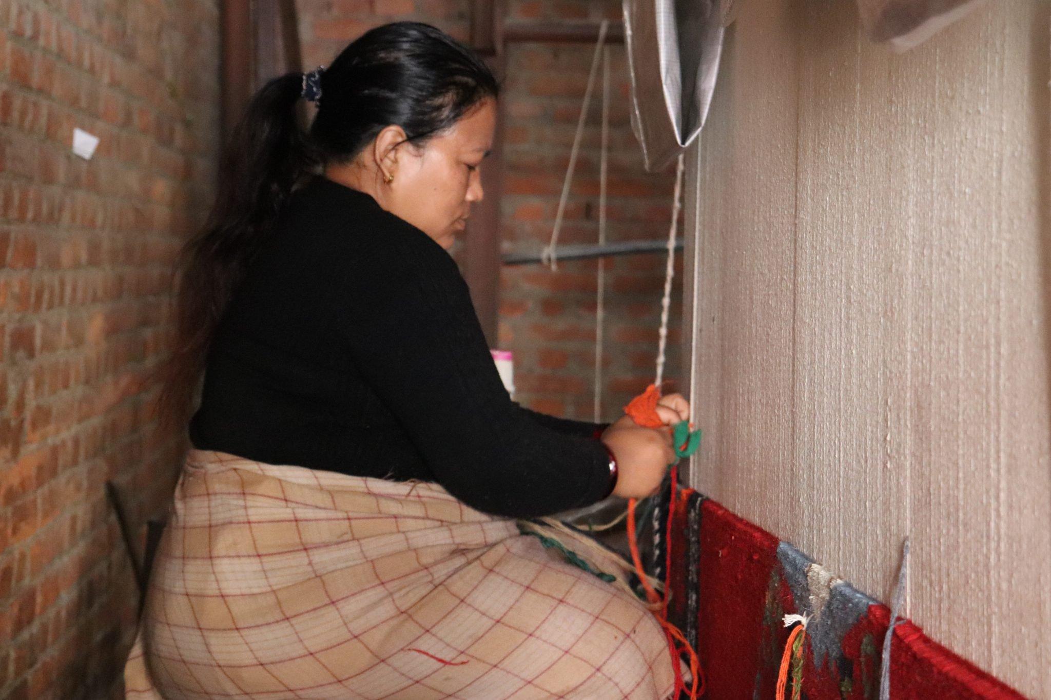 Tibetan Carpet Making Process