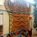 The Largest Tibetan Tiger Carpet