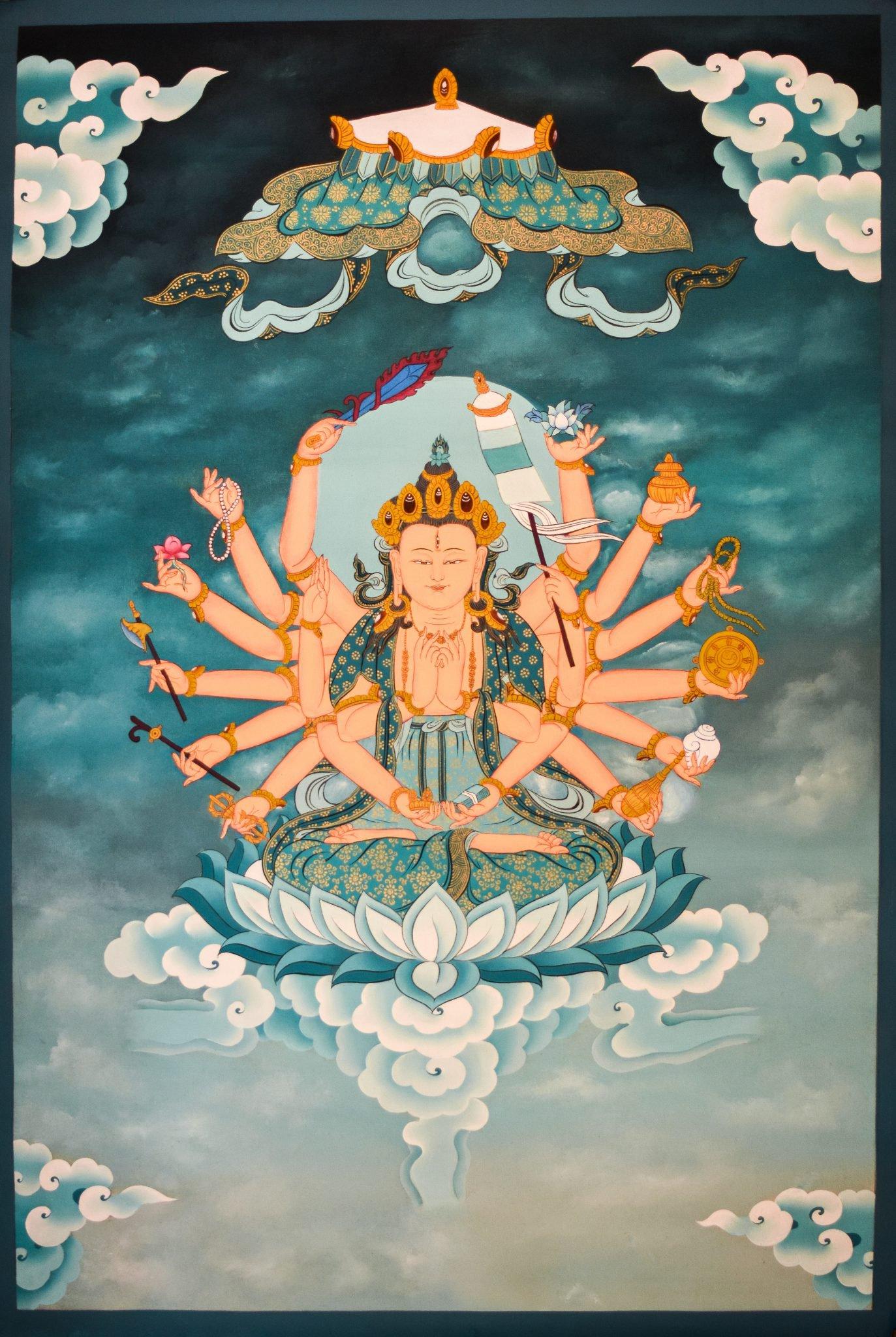 Cundi Tibetan Thangka