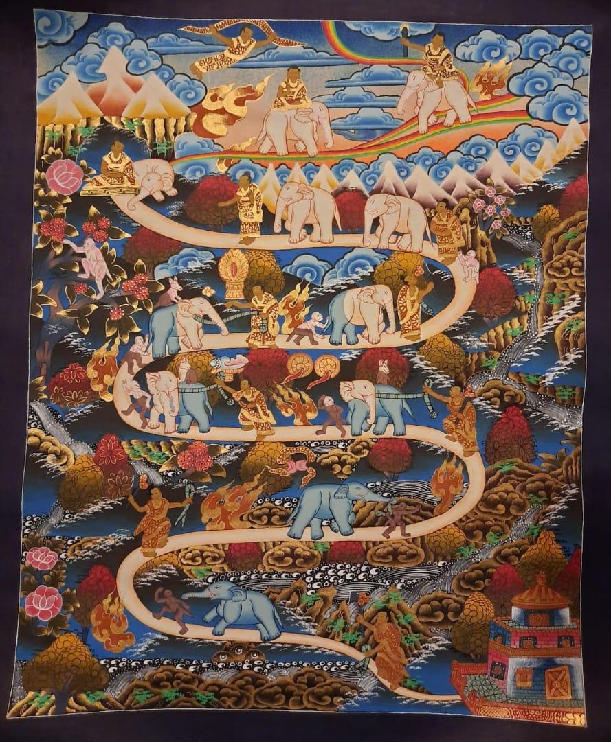 Way to Heaven Thangka Painting